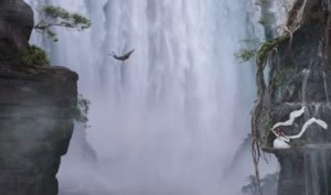 bahubali waterfall scene