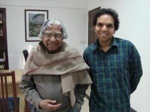 srijan with Dr. Kalam