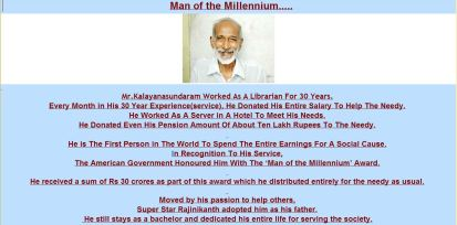 Mr. kalyanasundaram admriable india