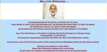Mr. kalyanasundaram admriable india