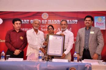 rotary club award kalyanamsundaram admirable india