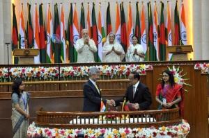 land swap deal signed