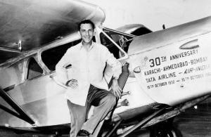jrd tata with airplane